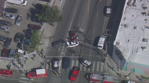 Manhunt underway in South Los Angeles following deadly crash, shooting