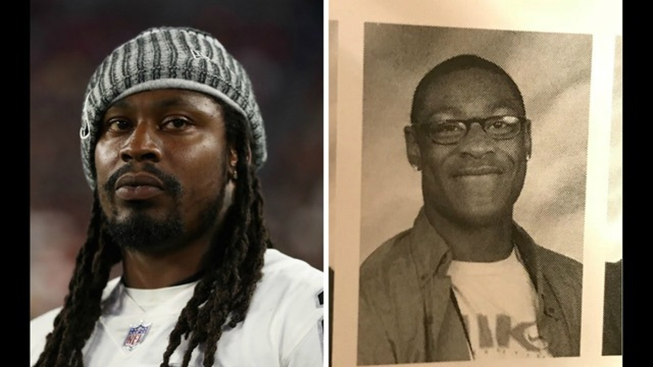 Twitter reacts to hilarious Marshawn Lynch high school photo