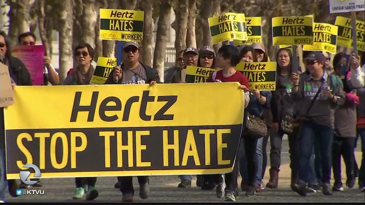 sfo s laid off hertz workers now calling for boycott hertz workers now calling for boycott