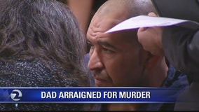 Dad arraigned in daughter's death