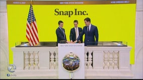 Snap shares soar on first day of trading
