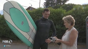 Beach goers beware or 'surf's up!'