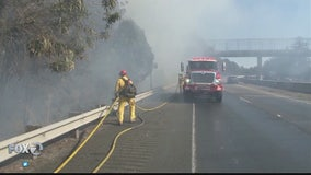 Fire contained after burning several homes in Petaluma, Hwy 101 reopens