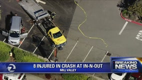 Pregnant woman among 8 injured in crash near Mill Valley In-N-Out