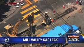 Gas line ruptured in Mill Valley