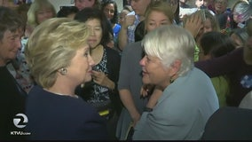 Hillary Clinton in Bay Area on fundraising trip