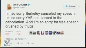 Coulter speech canceled