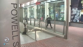 New BART canopies shield from rain, fend off homeless