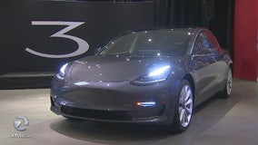 Tesla shows off Model 3 at private Palo Alto party