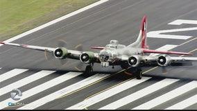 Vintage B17 bomber visits Bay Area