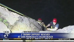 2 'skinny dippers' rescued from Ocean Beach