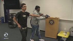 Students partake in Alameda County Sheriff's use of force training