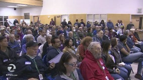 Packed community meeting over undeveloped Hayward land
