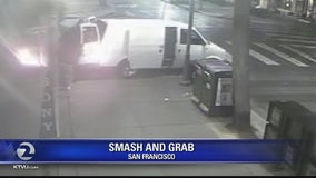 Police release surveillance video of Fisherman's Wharf smash & grab