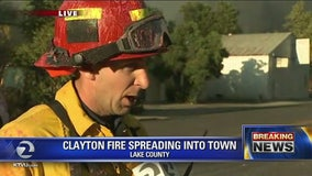 Lake firefighter gives update on fire