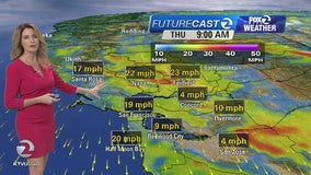 Thursday's forecast: Cooler, windy
