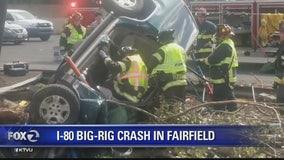 Big rig crash on I-80