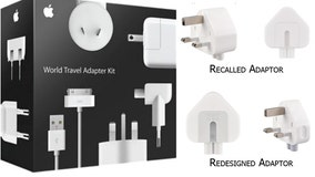 Apple recalls three-prong wall adaptors due to risk of electric shock