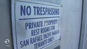 San Rafael Yacht Harbor tenants upset homeless people are using their showers