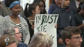 Students protest teacher's transfer