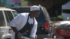 Chef Pat loses restaurant in fire, uses skills to feed Oakland's homeless