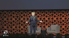 Hillary Clinton returns to address professional businesswomen conference in San Francisco