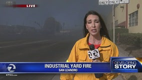 Shelter in Place ordered for San Leandro due to industrial yard fire