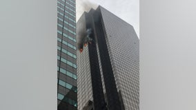 Fire erupts at Trump Tower in New York City