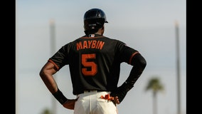 Giants outfielder Cameron Maybin arrested on suspicion of DUI