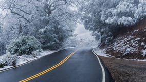 Chilly weather brings rare dusting of snow to Bay Area peaks