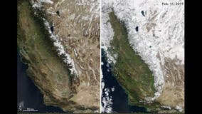 NASA gives view of healthy Sierra snowpack from space