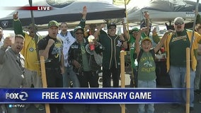Oakland A's celebrate 50th anniversary with free game