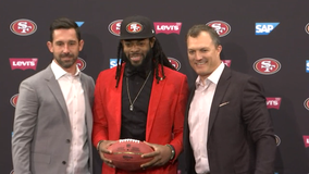 Richard Sherman officially introduced as a 49er