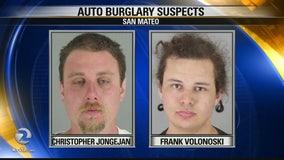 Two suspected auto burglars arrested in San Mateo
