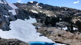 'Watermelon snow' at Yosemite National Park