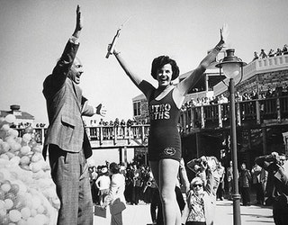 happy 39th birthday pier 39 dianne feinstein appears at grand opening in swimsuit happy 39th birthday pier 39 dianne