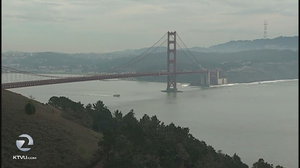 Golden Gate Bridge whistles to the tune of the gale