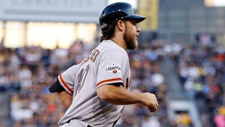 Giants-Pirates Bumgarner home run
