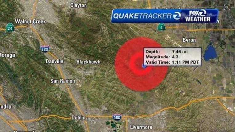 4 3 Magnitude Earthquake Centered Near Blackhawk Felt Throughout Bay Area