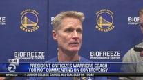Trump mocks NBA coach Steve Kerr for China stance, calls him 'little boy'