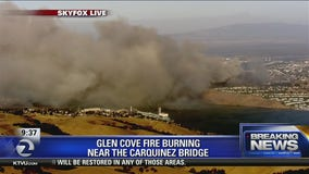 Glen Cove fire in Vallejo