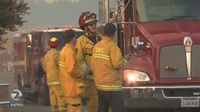 Grass fire in American Canyon burns close to several homes, evacuation order issued but not mandatory