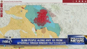 Healdsburg and Windsor under evacuation orders