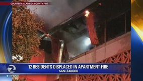 San Leandro fire goes to 3 alarms, multiple apartment units displaced