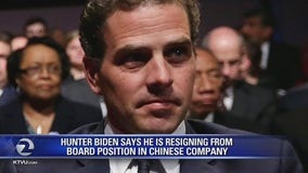Hunter Biden says he is resigning from board position in Chinese company
