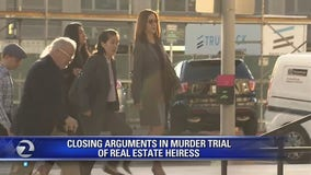 Murder suspect Tiffany Li seen outside Redwood City courthouse as closing arguments begin