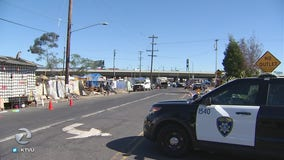 Homeless camp near Home Depot cleaned up