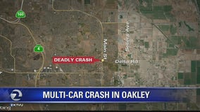 One killed in multiple-vehicle collision in Oakley