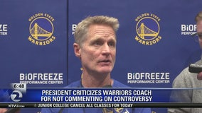 Trump mocks NBA coach Steve Kerr for China stance, calls him 'little boy'