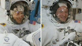 Astronauts replace old batteries in 1st of 5 spacewalks, all-female spacewalk later this month